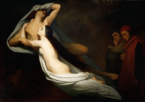 Ary Scheffer - The Ghosts of Paolo and Francesca Appear to Dante