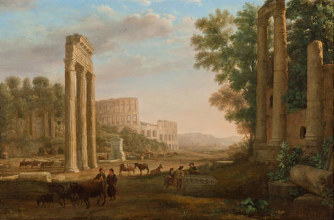 Claude Lorrain - Capriccio with ruins of the Roman Forum