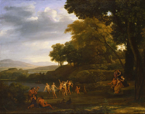 Claude Lorrain - Landscape with Dancing Satyrs and Nymphs