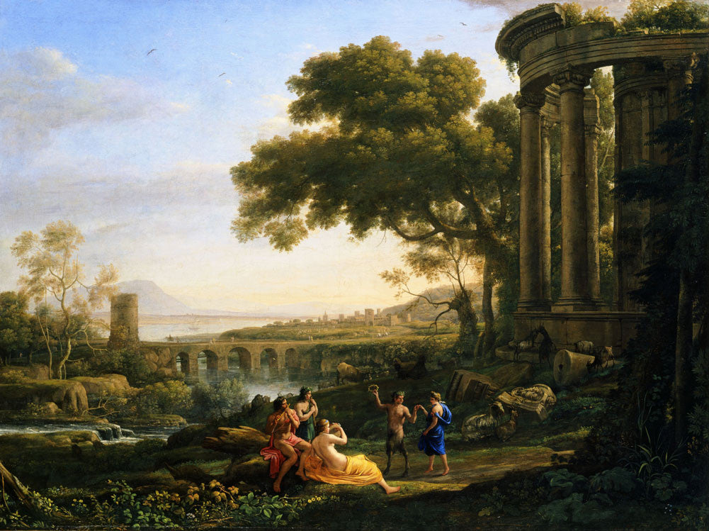 Claude Lorrain - Landscape with Nymph and Satyr Dancing