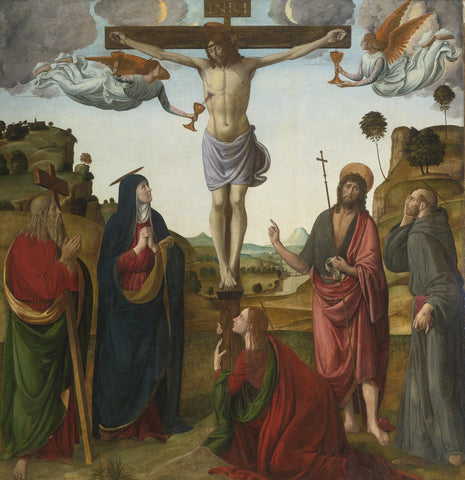 Cosimo Rosselli - The Crucifixion with the Madonna and Mary Magdalene, and Saints Andrew, John The Baptist and Francis