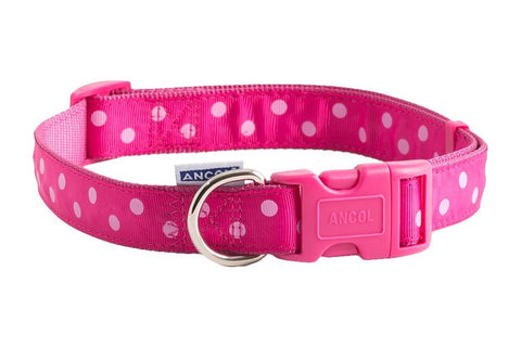 AN ADJ POLKA DOT COLLAR 2-5 PINK