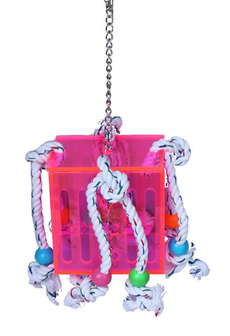 LAZY BONES ACRYLIC BOX & ROPE TOY