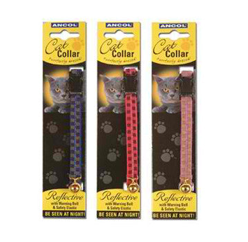 ANCOL GLOSS REFLECTIVE SNAPPY CAT COLLAR