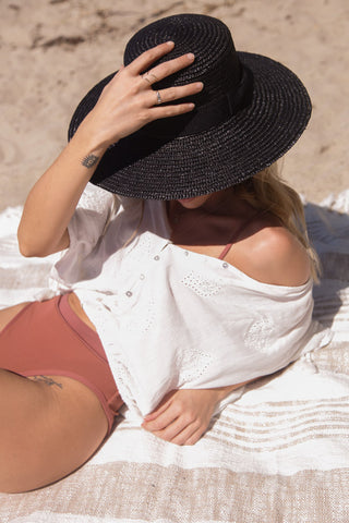 Bungalow Straw Boater Hat