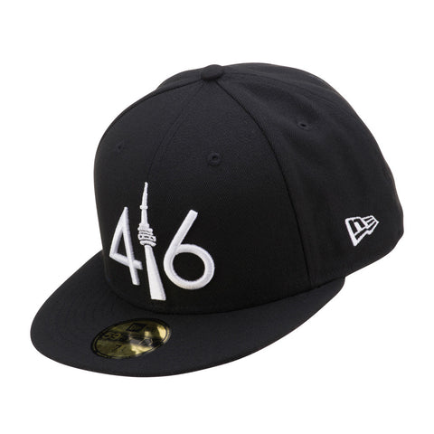 416 New Era 59FIFTY - BLACK/WHITE LOGO