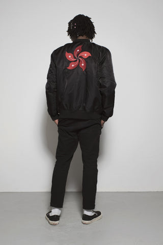 HK Orchid Tree bomber jacket