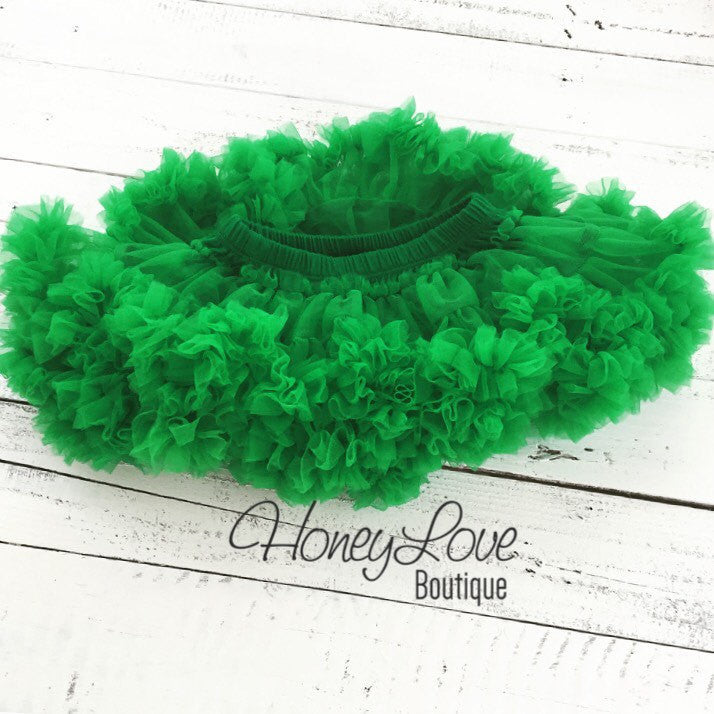 Kelly Green Pettiskirt - HoneyLoveBoutique
