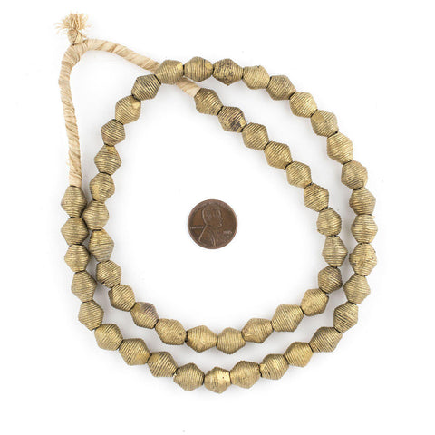 Mini Wound Brass Bicone Beads (10mm) - The Bead Chest