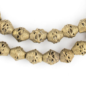 Mini-Bicone Brass Filigree Beads (10mm) - The Bead Chest