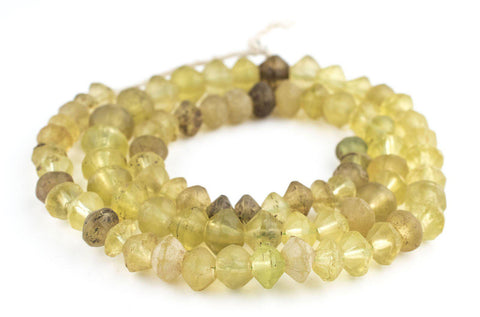 Antique Yellow Vaseline Beads (Long Strand) - The Bead Chest