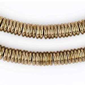 Jumbo Brass Double Heishi Beads (9mm) - The Bead Chest