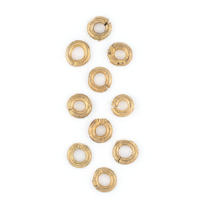 Ghana Brass Donut Beads (11mm)(Set of 10) - The Bead Chest