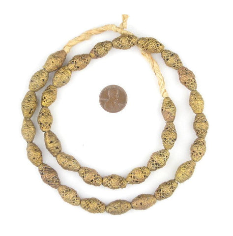 Mini Bicone Medley Brass Filigree Beads - The Bead Chest