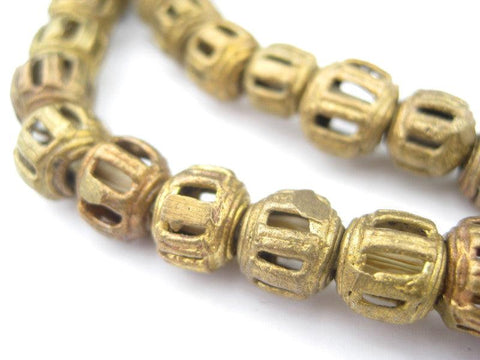 Braided Style Ghana Brass Filigree Beads (9mm) - The Bead Chest