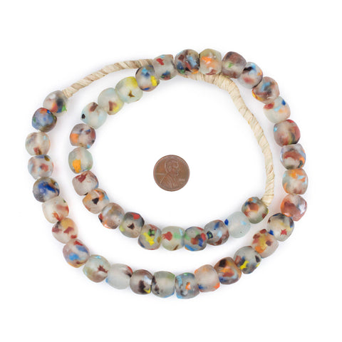 Image of Rainbow Speckled Recycled Glass Beads (14mm) - The Bead Chest