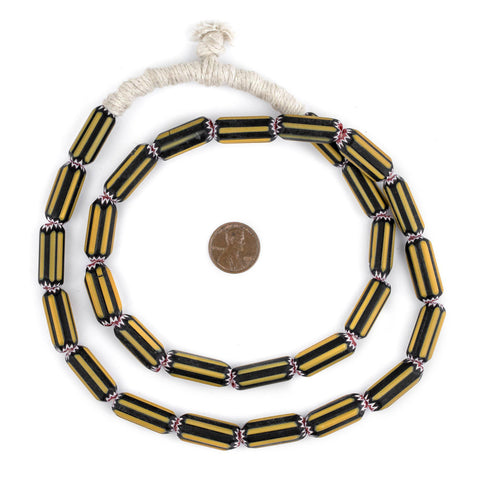 Image of Yellow Jacket Chevron Beads - The Bead Chest