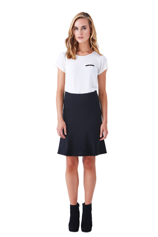 BEVERLY FIT AND FLARE PONTE SKIRT (Lined)