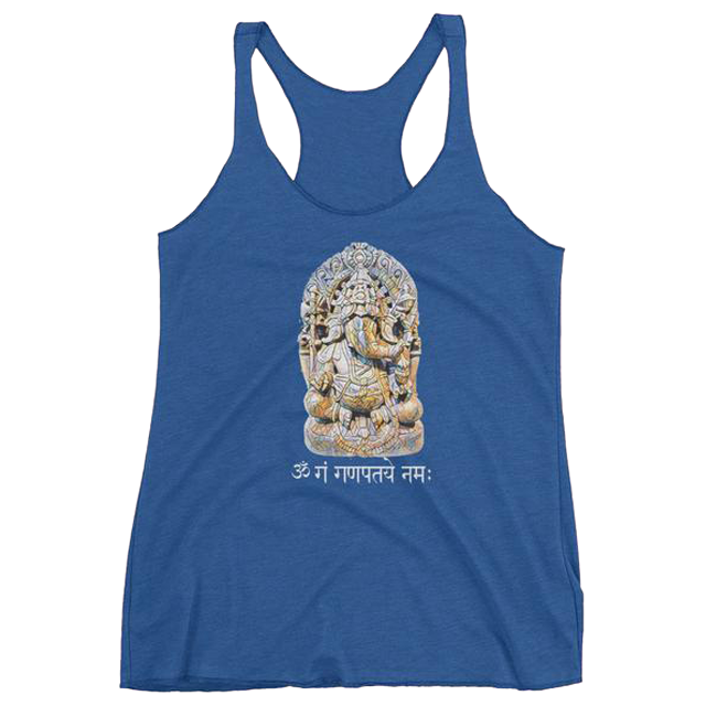 Ganesh Racerback Tank for Women - Infused Thoughts