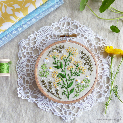"Green Garden - 4"" embroidery kit"