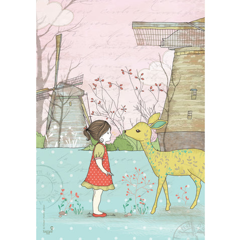 Bambi Girl print wall art