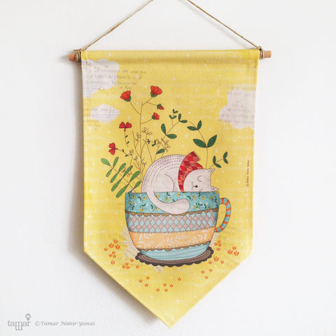 Banner Flag - Sweet Dreams -Yellow