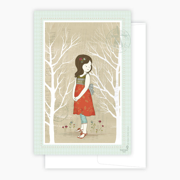 Between Two Trees Card