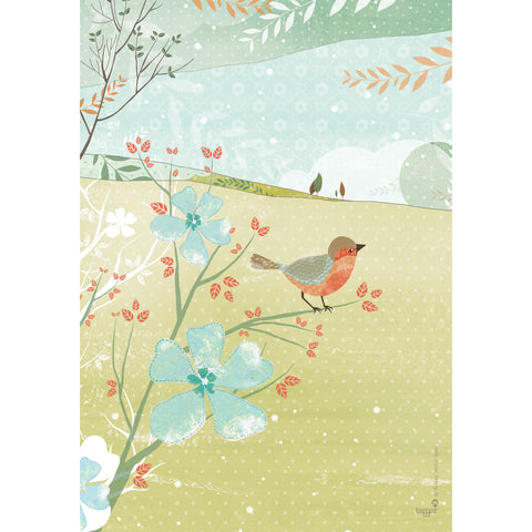 Bird on a Branch print wall art