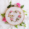 "Flower Heart - 6"" embroidery kit"