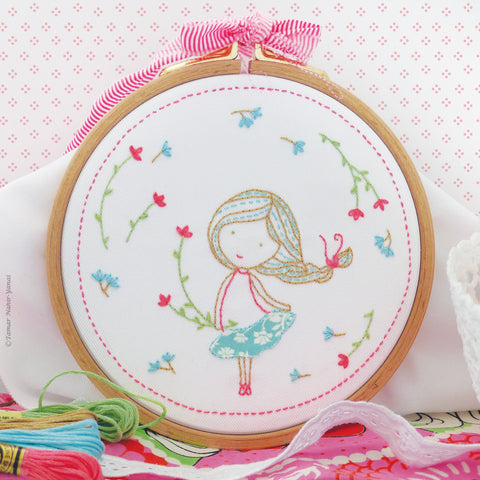 Spring Girl embroidery kit