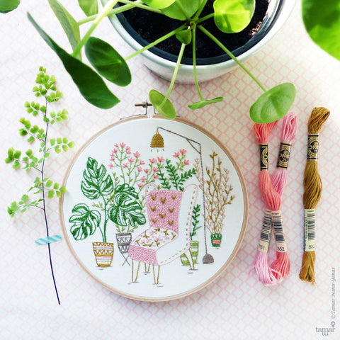 "Urban Jungle - 6"" embroidery kit"