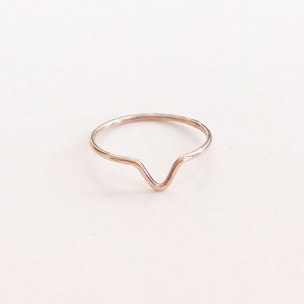 Hammered Ring - V shape