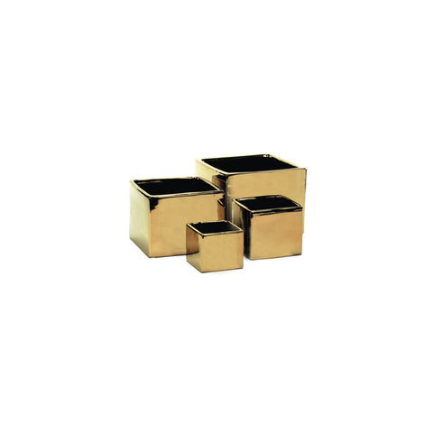Metallic Collection cube Planters