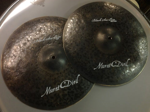 "Murat Diril Black Sea 14"" Hi-Hats Canada BL4014"