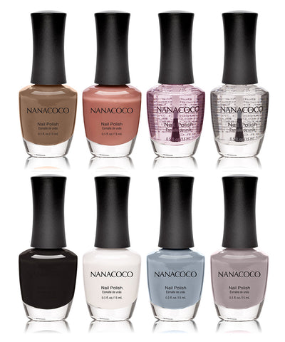 Neutrals Collection: Eight Piece Nail Polish Set
