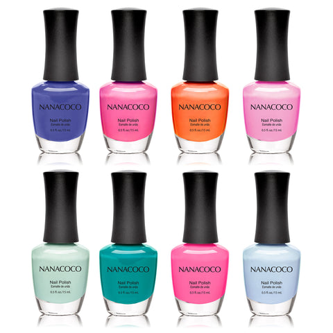 Nanacoco Dancing with Color: Classic Collection Nail Polish - Set of 8