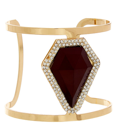 Arrow Gemstone Statement Cuff