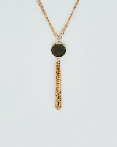 Agate & Tassel Necklace
