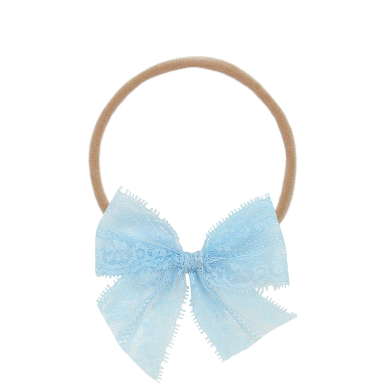 Sky Lace Vintage Bow