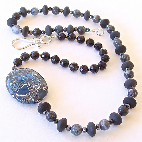 Slate: Blue Stone Necklace