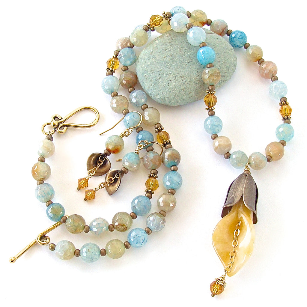 boho necklace set