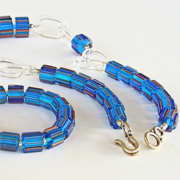 Capri Blue Glass Necklace