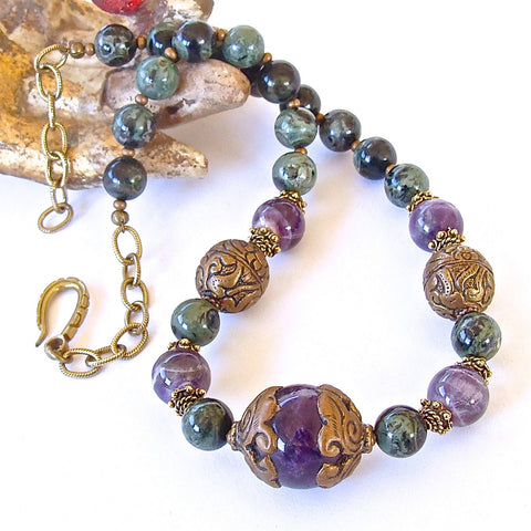 Exotic Gemstone Choker