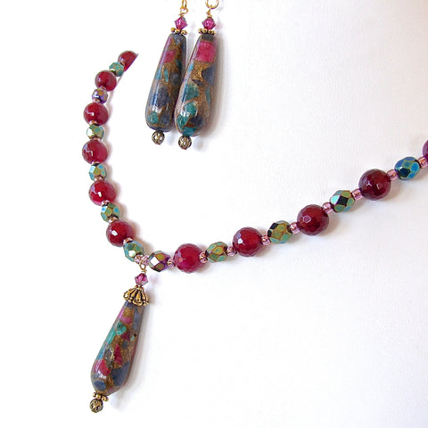 Tapestry: Jewel Tone Necklace Set