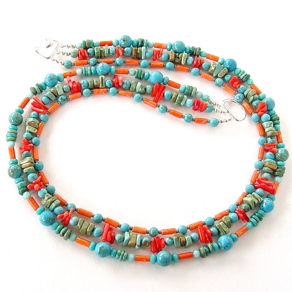 coral and turquoise jewelry