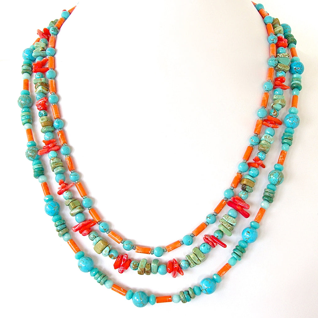 turquoise and coral jewelry