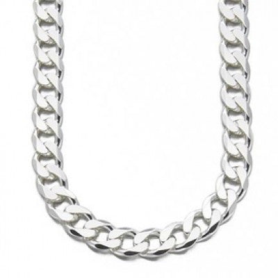 "Designer Inspired Thick Curb Chain Necklace 20"" Sterling Silver 925 Plated 12mm 66g - Designer Inspired Co -"