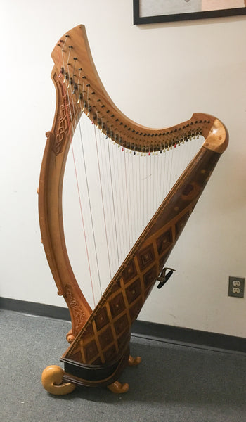 36-String Ornate Wire Strung Harp (used)