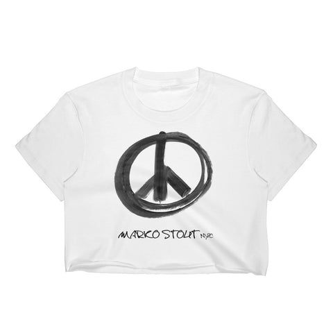 Metro Crop Top (Peace Sign in Black Marker)