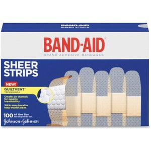 Band-Aid Adhesive Bandage (Box of 100)